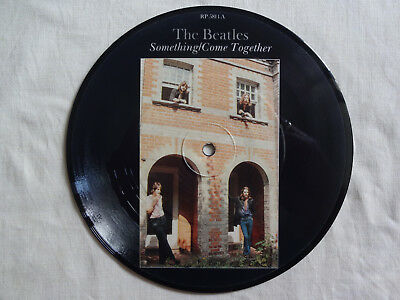 """unplayed 7"""" picture disc - THE BEATLES - Something/Come Together (+ insert)"""