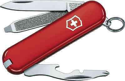 0.6163 VICTORINOX RALLY SWISS ARMY POCKET KNIFE RED 58MM 54021 NEW IN BOX! z