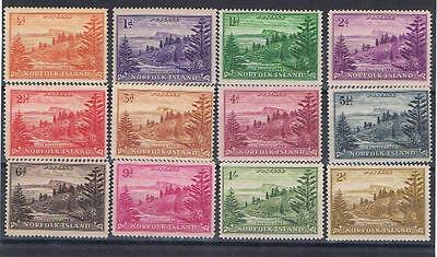 Norfolk Island 1947 Ball Bay complete SG 1-12 Mint MH