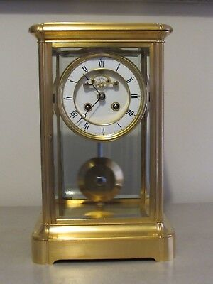 Antique French Four Glass Table Regulator Clock
