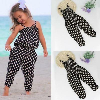 Toddler Kids Baby Girls Summer Romper Jumpsuit Harem Pants Trousers Clothes Sale