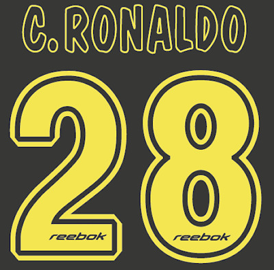 Sporting Lisbon Ronaldo Nameset Shirt Soccer Number Letter Heat Print Football A