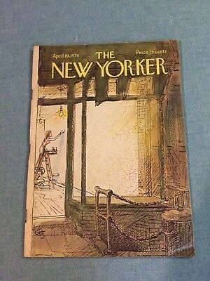 The New Yorker Magazine ~ April 19, 1976 ~ Arthur Getz Cover
