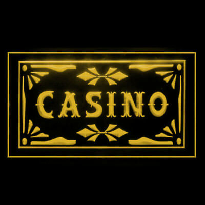 230022 Casino Table Game Gambling Slot machine Jackpot Roulette LED Light Sign