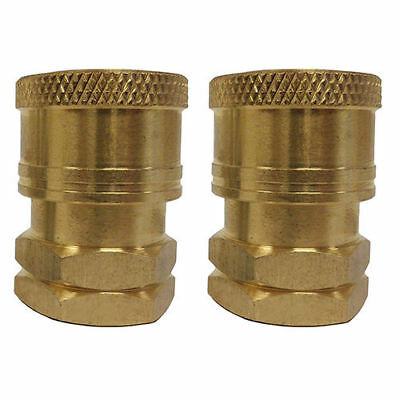 "Pressure Washer Spray Wand Brass Coupler Fitting Set 1/4"" FNPT 2 Piece Set NEW"