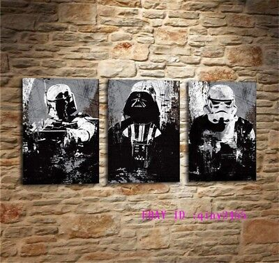 Darth Vader Star Wars-1,HD Print Art Home Decor Oil Painting on Canvas 3PC