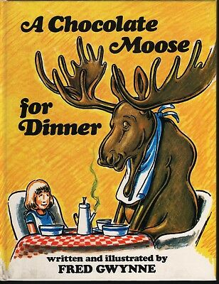 Fred Gwynne. Authentic autograph. Signed book. A Chocolate Moose for Dinner.