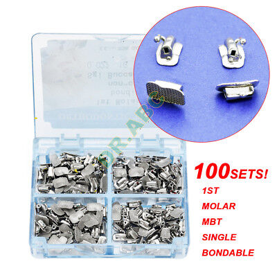 100set Dental Orthodontic 1st Molar MBT 022 Buccal Tube Bondable Non-Convertible