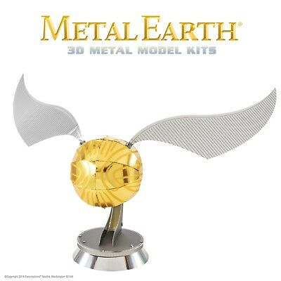 Fascinations Metal Earth Golden Snitch Harry Potter Laser Cut 3D Model Kit