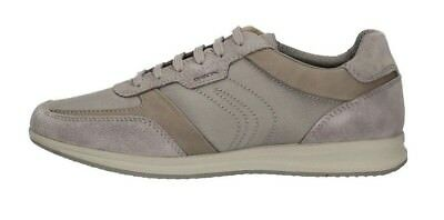 GEOX U Avery B SUEDE TEXTILE Taupe Scarpe Uomo Sneakers Man Shoes Camoscio