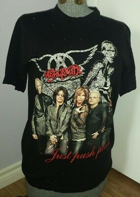 aerosmith black (Med) JUST PUSH PLAY world tour 2001