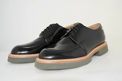MAN-8eu-9us-DERBY-BLACK SHINE CALF-VITELLO NERO-RUBBER SOLE-SUOLA GOMMA