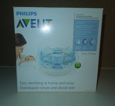 Philips AVENT Microwave Steam 6 Baby Bottle Sterilizer BPA Free