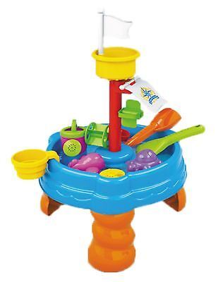 Sand Water Table Sandpit Indoor/Outdoor Beach Kids Children Play Toy Set UK