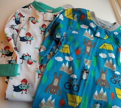 NWOT Lot of 2 Carter's Infant One Piece Long Sleeved Footed Pajamas 18mo 24mo