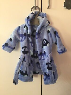 Super Soft Baby Boys Dressing Gown Age 0 3 Months Worn Once