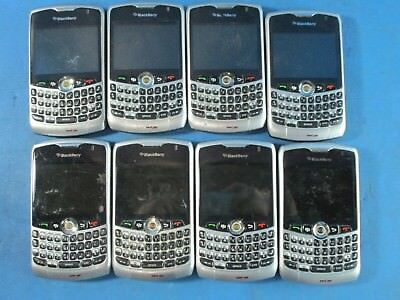 Lot of 8 - Blackberry Curve 8330 Black / Silver Bluetooth - UNTESTED