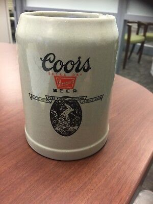 Vintage Coors Promotional Beer Stein Collectible