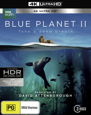 Blue Planet II 2 UHD 4K Blu-ray Region B New!