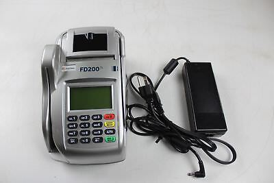 First Data FD200ti Credit Card  & Check Terminal w/ Power Supply
