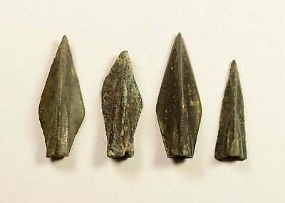 SUPERB LOT OF 4 Ancient Greek Scythian Arrow Heads Bronze 5th c BC
