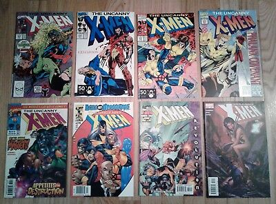 Uncanny X-Men Comic Lot - 8 issues from #'s 269-451