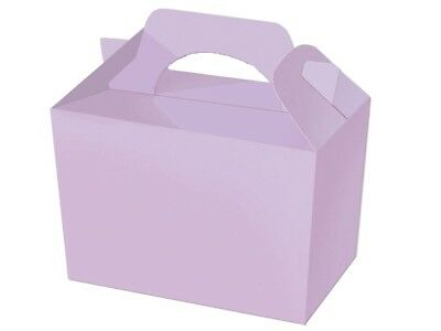 Lilac Mauve Coloured Boxes ~  Childrens Recyclable Food Usable Party Meal Box
