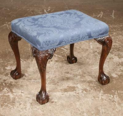 Chippendale style mahogany stool on cabriole legs with acanthus carve... Lot 134