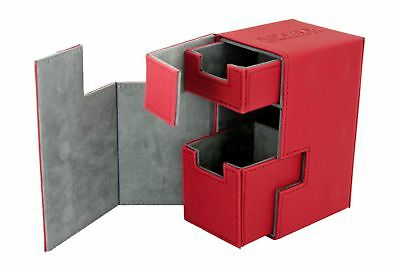 Ultimate Guard - Flip'n'Tray Xenoskin Deck Case 80+ Red - Gaming Boxing