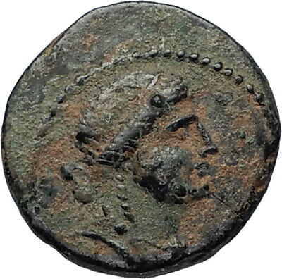 ANTIOCH Seleukis Roman Emperor NERO Time 55AD Ancient Greek Coin w APOLLO i67450