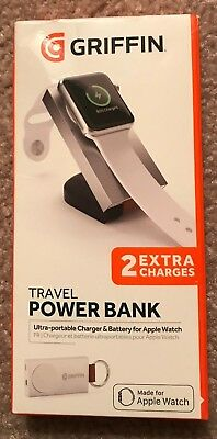 PNew In Box Griffin Travel Power Bank Portable Charger Apple Watch-Save 33% Off!