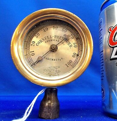 "PM10 ~ Very Nice 2 1/2"" CROSBY Steam Gauge, All Brass, Works"