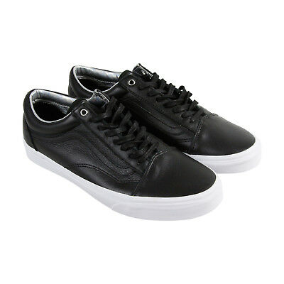 590d86fe0d  183 VANS Mens BLACK OLD SKOOL LOW TOP LEATHER SKATEBOARDING SNEAKERS SHOES  6.5