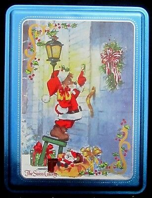 VINTAGE -THE SWISS COLONY CHRISTMAS Brownie Tin signed H. ENDRES Christmas Mouse
