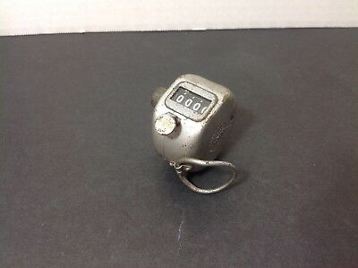 Vintage Veeder Root Inc Manual Counter - 4 Digit Stainless Silver Small