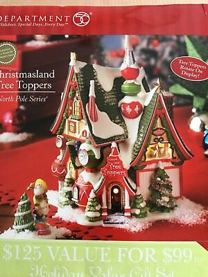 Department 56 Christmasland Tree Toppers MIB 56960