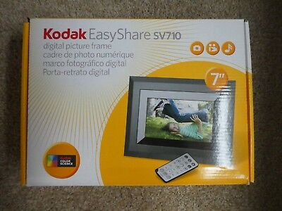 """Kodak EasyShare SV710 7"""" Digital Picture Frame NEW but box was opened"""