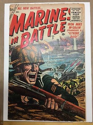 Marines In Battle # 9 (1955) VG- CRM Atlas War Pre-code