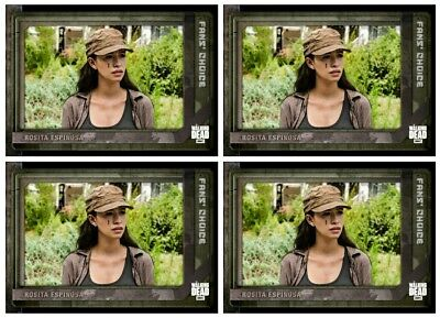 4x FAN'S CHOICE III WAVE 2 ROSITA ESPINOSA The Walking Dead Trader Digital Card