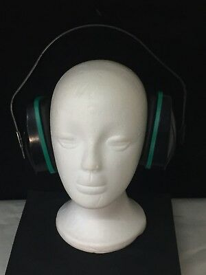 MSA Adjustable Ear Muffs - Black / Green - Excellent - Free Shipping