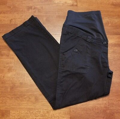 Belly by Design Maternity Pants Sz Large Black Boot Cut Casual Pants Inseam 29.5