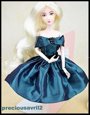 Barbie Doll Clothes Teal Dress/Wedding/Party /Clothes/Outfit/Clothing/Evening