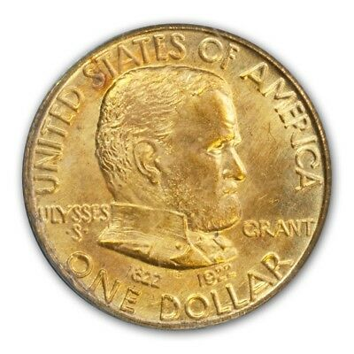 GRANT, NO STAR 1922 G$1 Gold Commemorative PCGS MS65