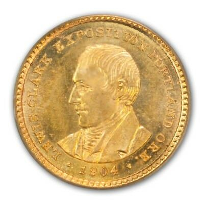 LEWIS AND CLARK 1904 G$1 Gold Commemorative PCGS MS65