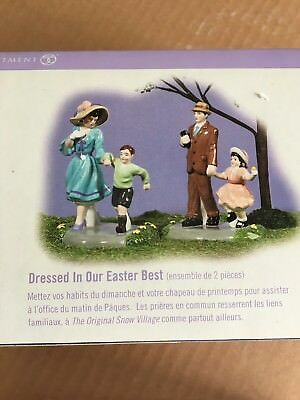 "Dept 56 Snow Village Easter ""Dressed In Our Easter Best"" - 55327 MIB"