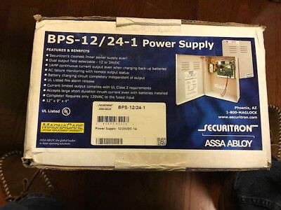 Securitron Assa Abloy Bps-12/24-1 Power Supply - New. I Have 5