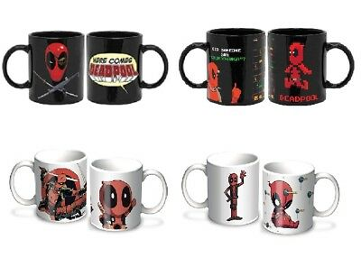 DEADPOOL MUG : Sword / Toy / Here Comes / Pixel - Tea Coffee Xmas Gift