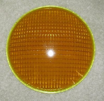 Crouse Hinds Small Bead Yellow Traffic Signal Light lens (A)