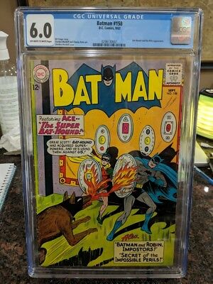 DC Comics Batman #158 CGC 6.0 Silver Age Comic