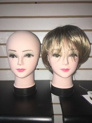 Female Mannequin Head Model Wig Hat Jewelry Display Cosmetology Salon X7P9